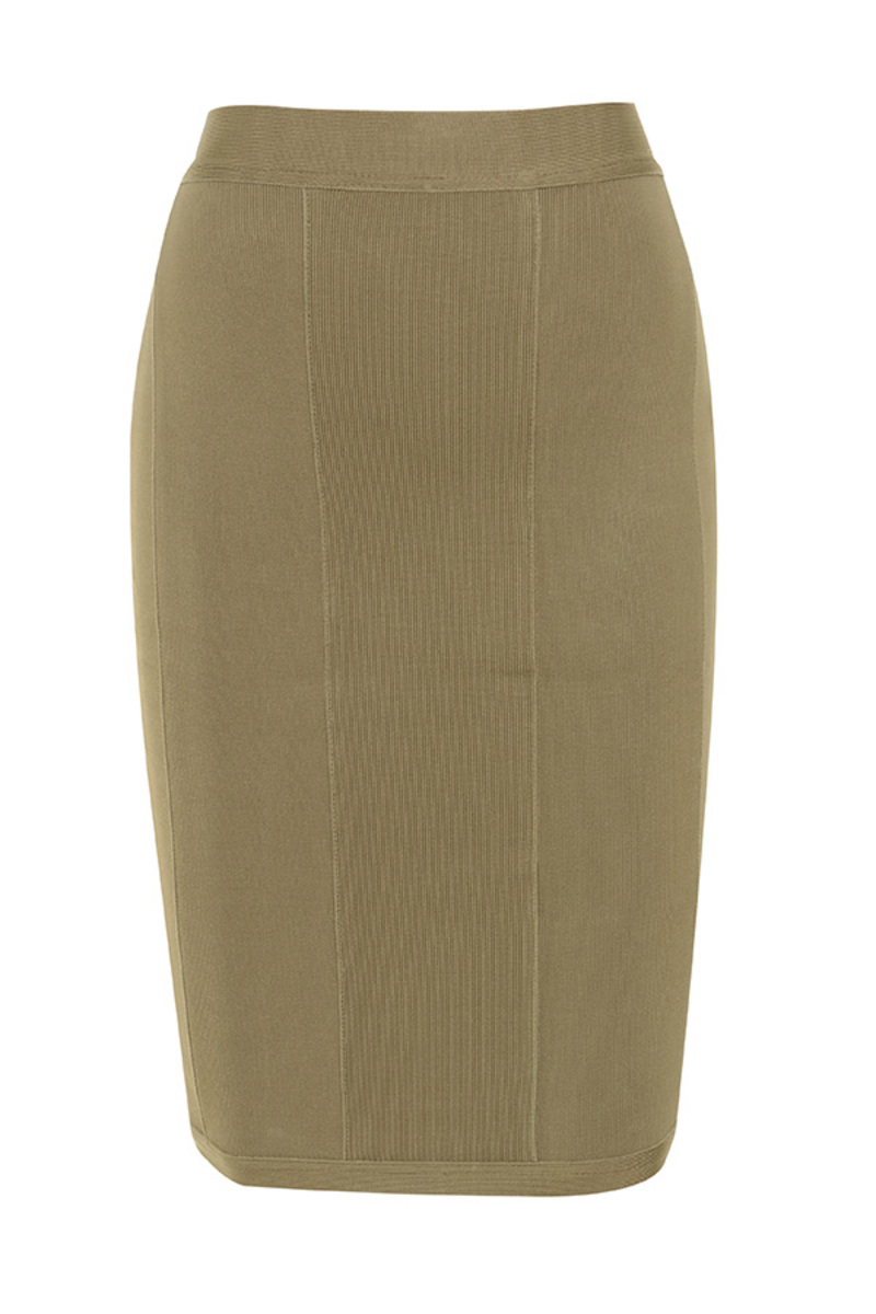 centerfold bandage dress in khaki