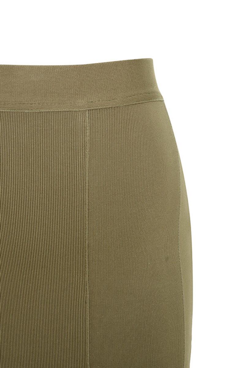 centerfold khaki dress