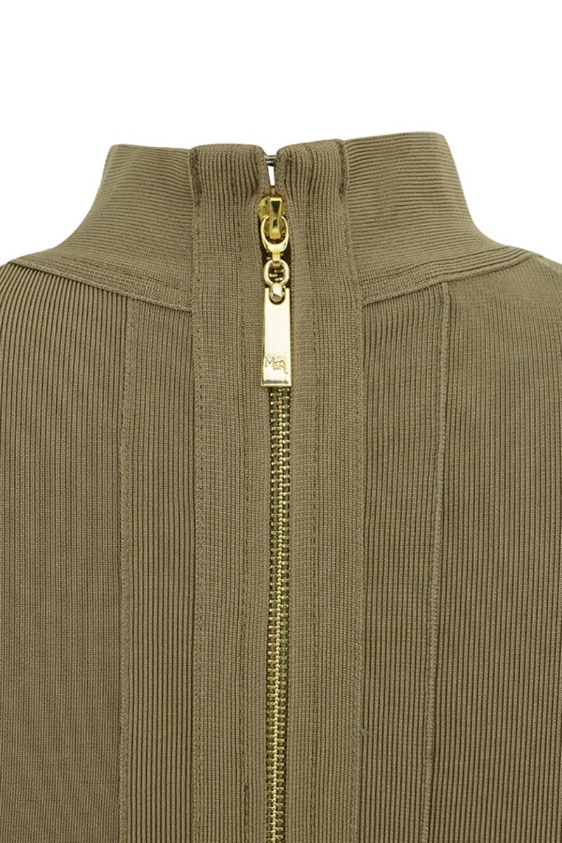 khaki centerfold dress