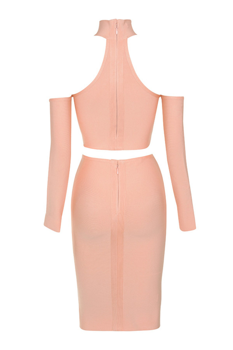 dollface dress in coral