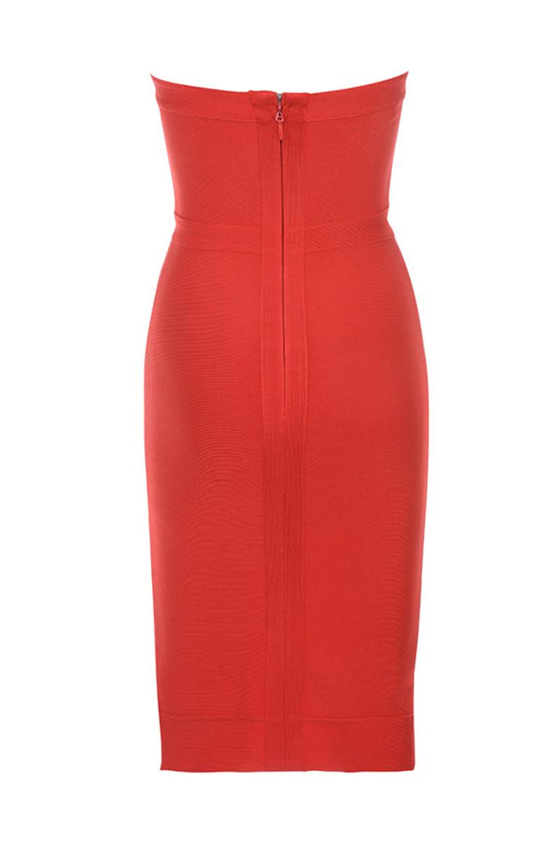 elfin dress in red