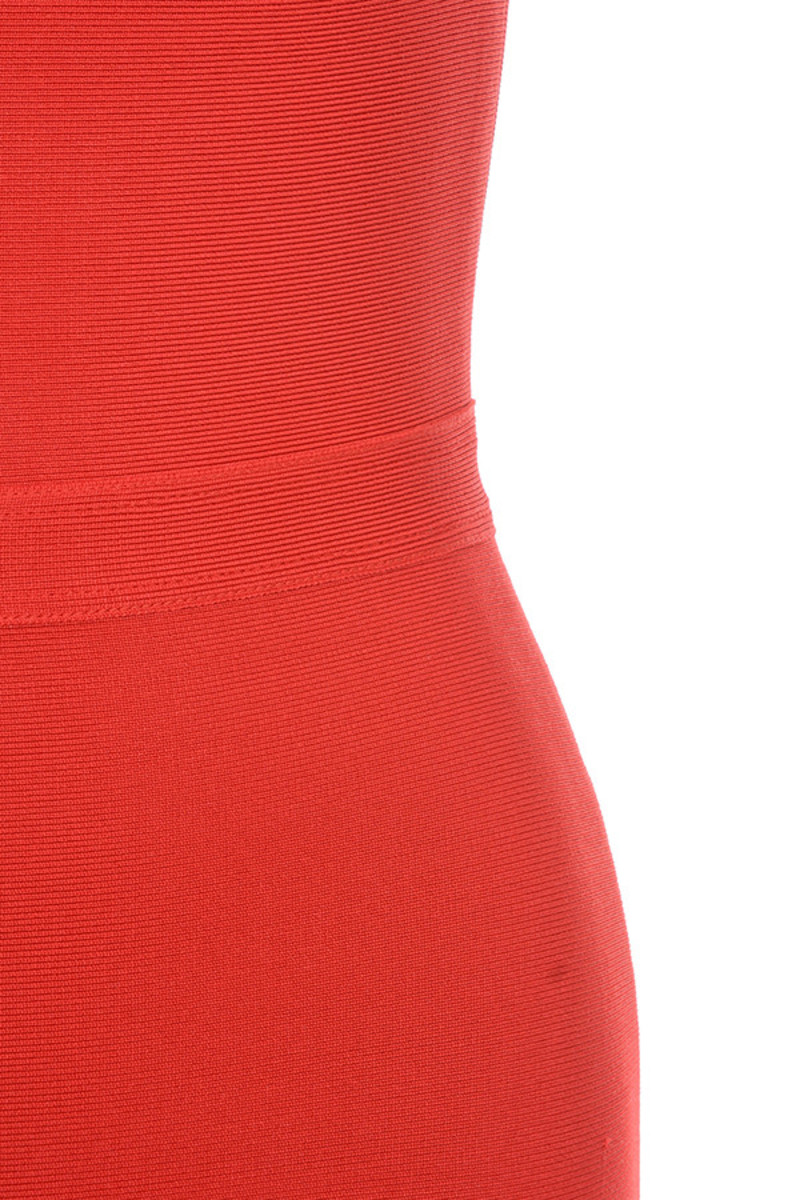 red elfin dress