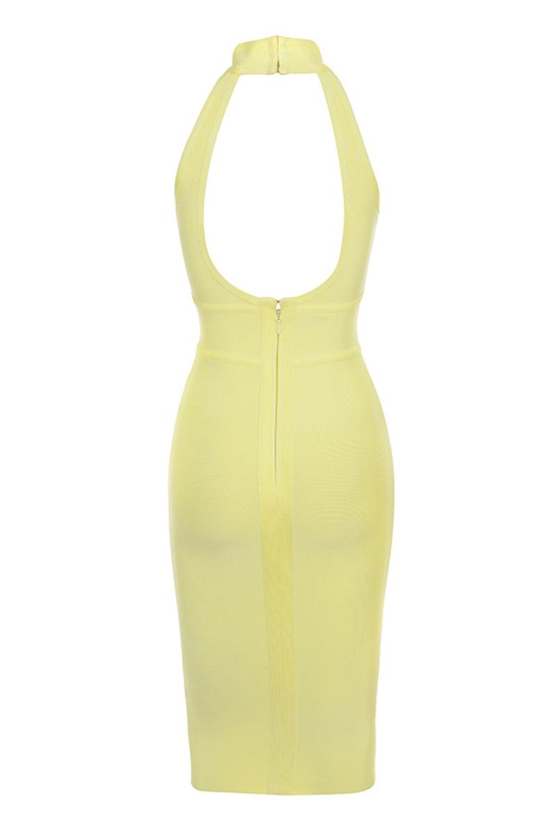 firelight dress in yellow