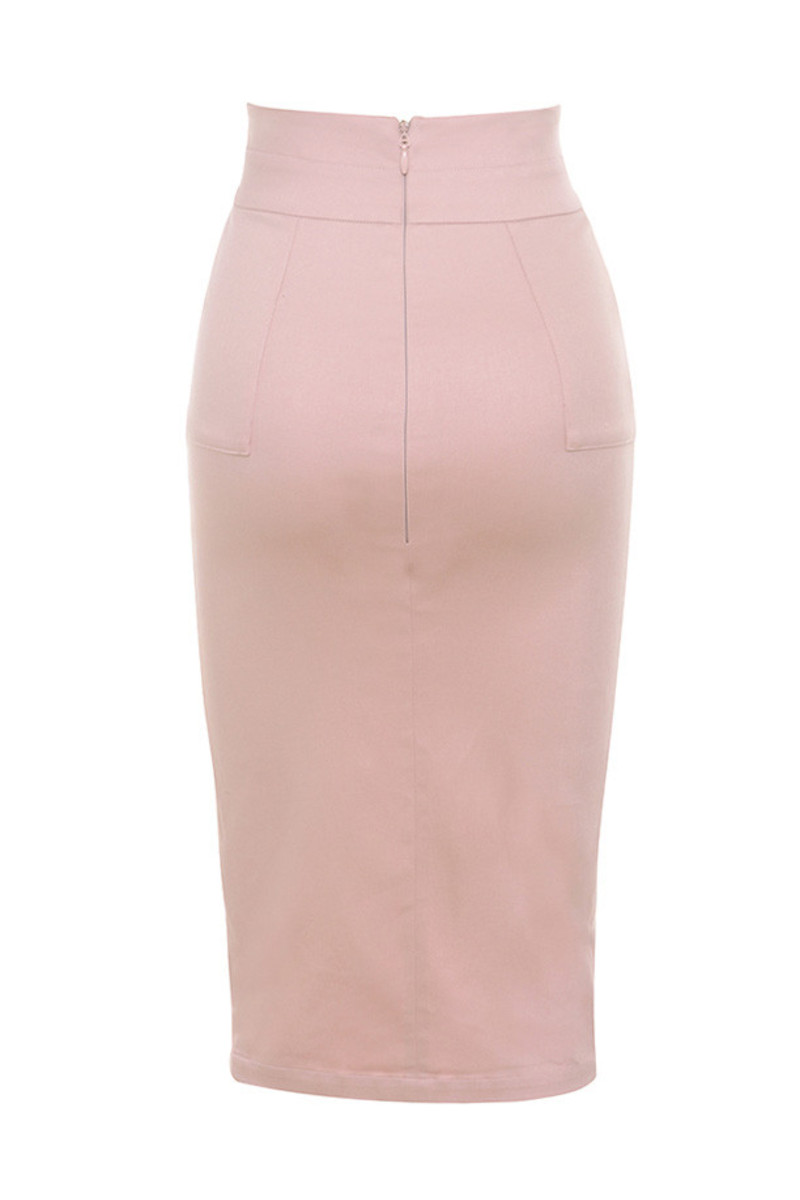 Pale Pink Pencil Skirt