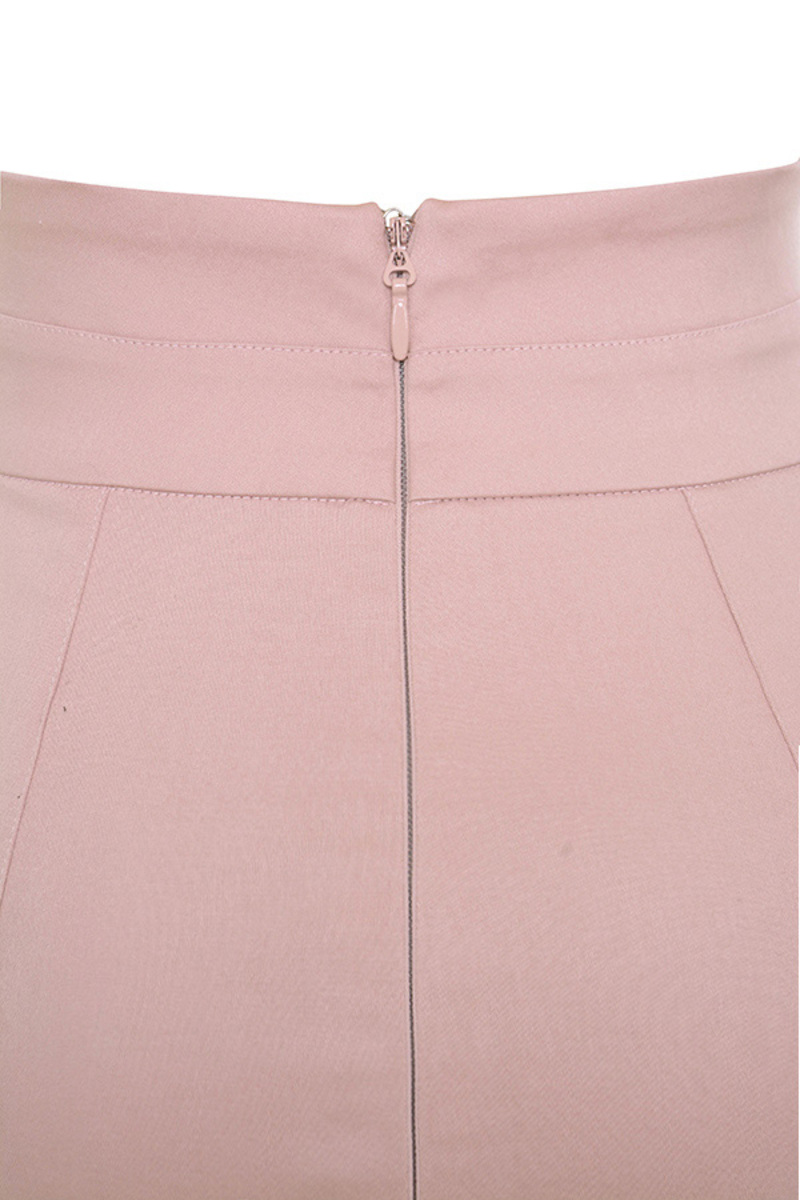 Pink Canvas Skirt
