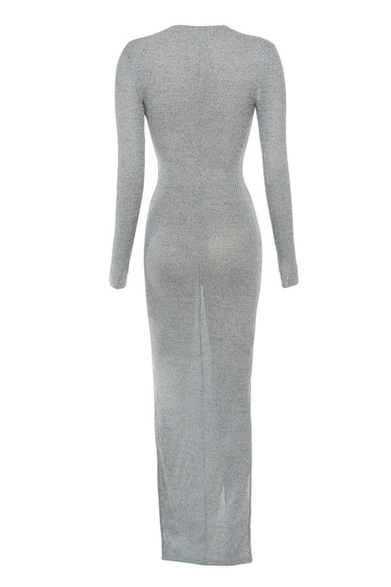 scouted dress in grey