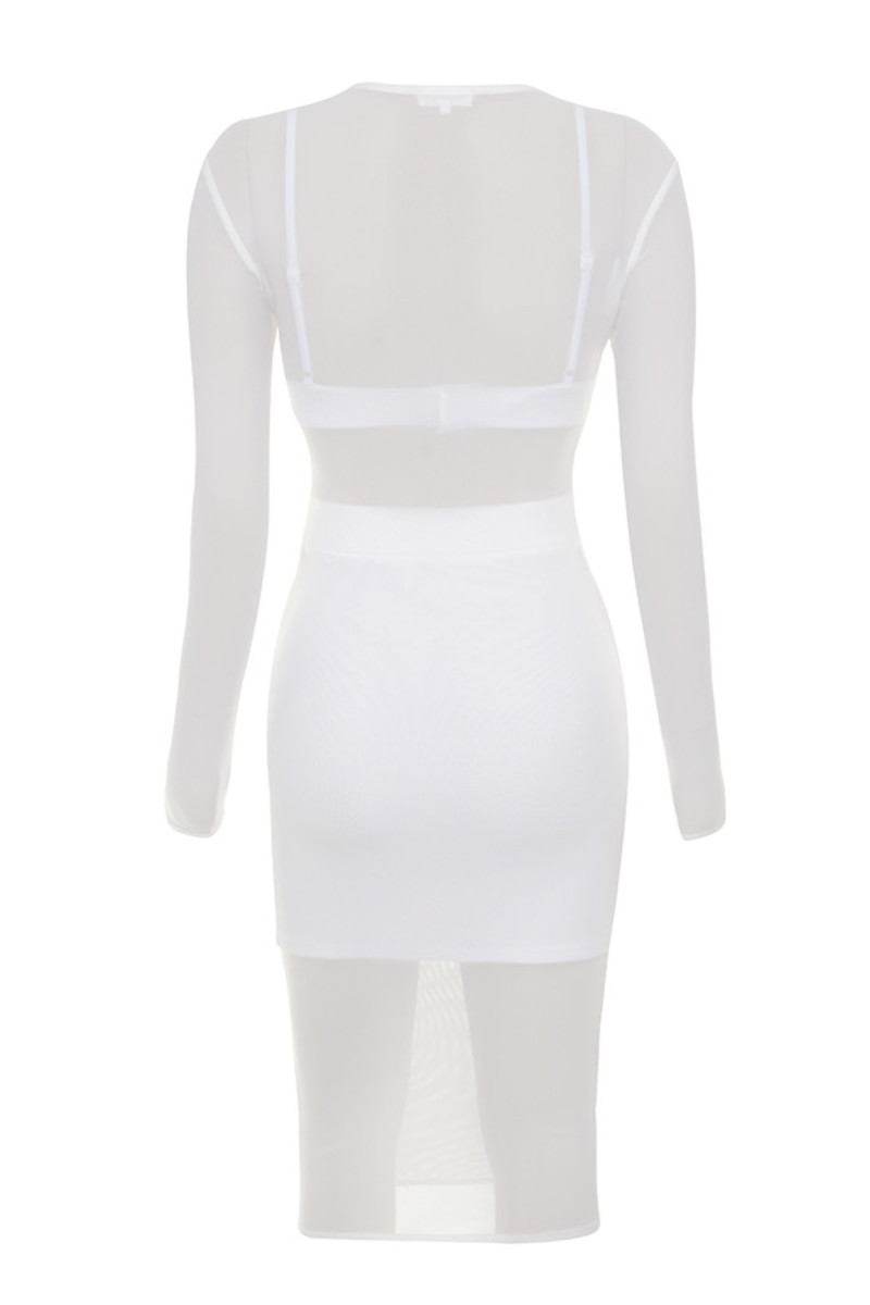 trigger happy dress in white