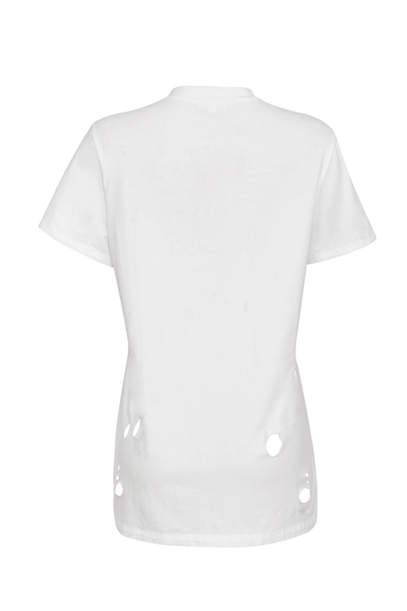 trouble top in white