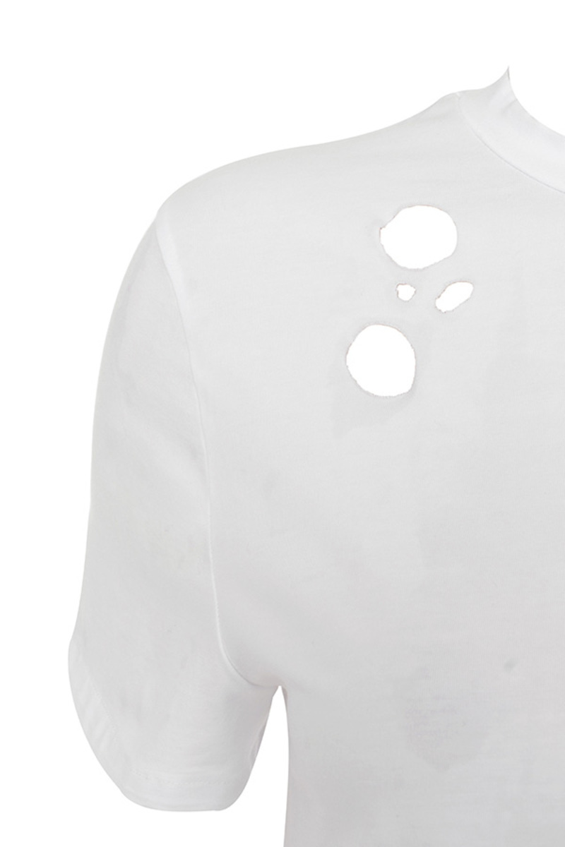 trouble shirt in white