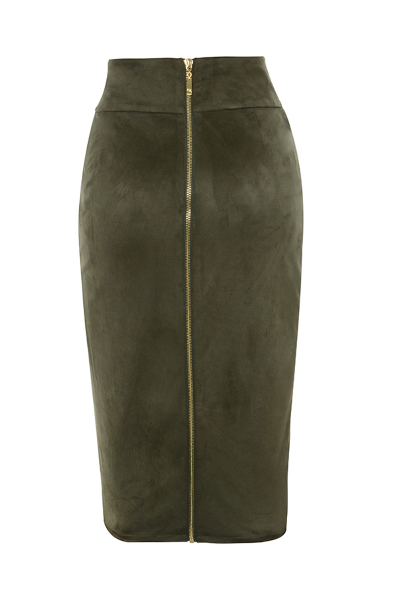 all shook up skirt in khaki