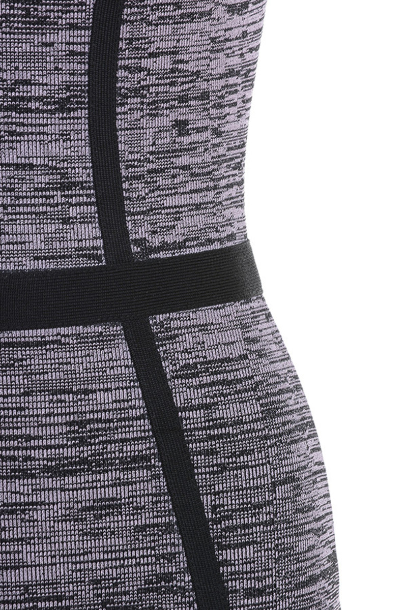 grey chilling dress