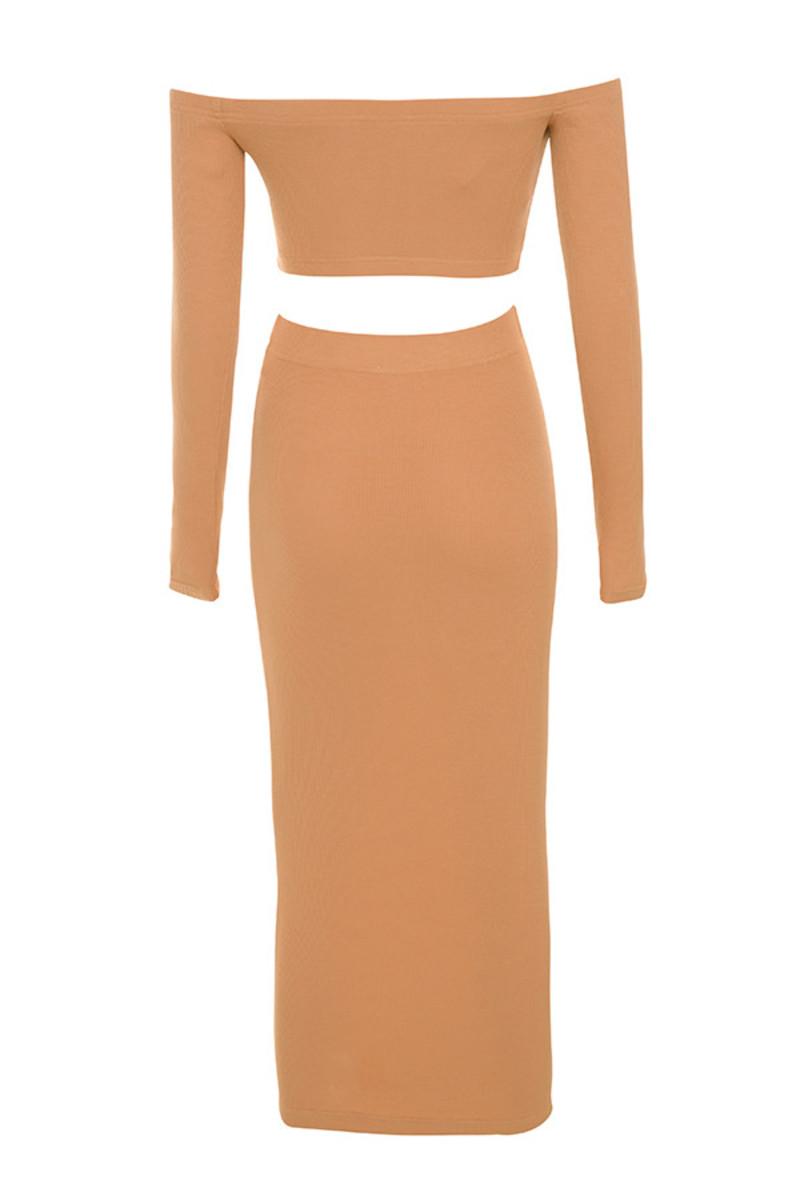 goals dress in tan
