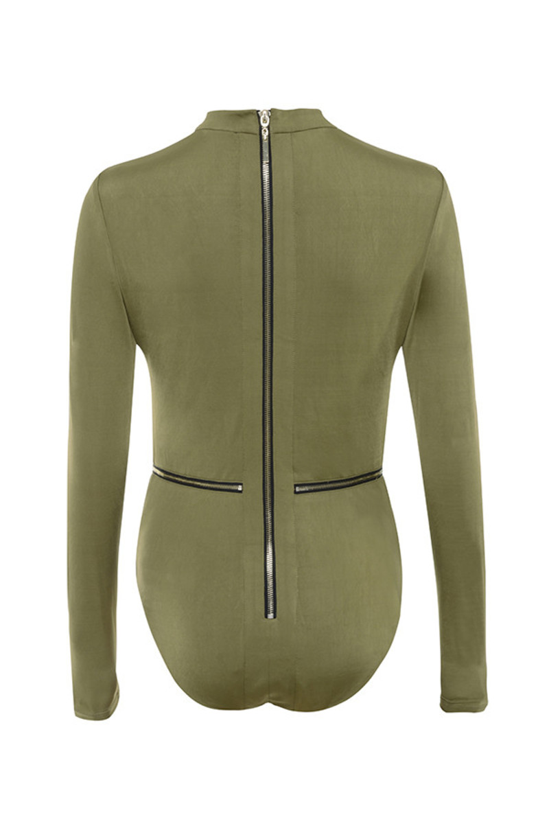 guest list bodysuit in khaki