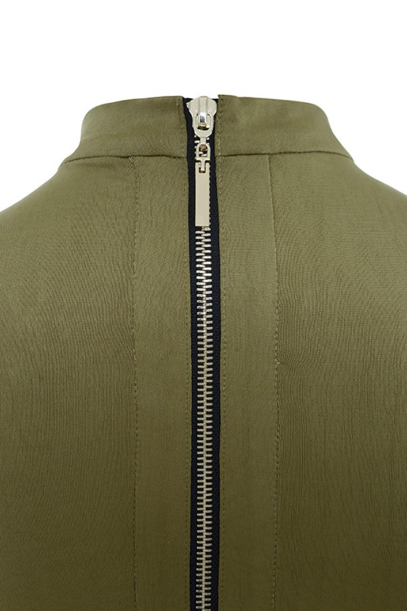 khaki guest list bodysuit