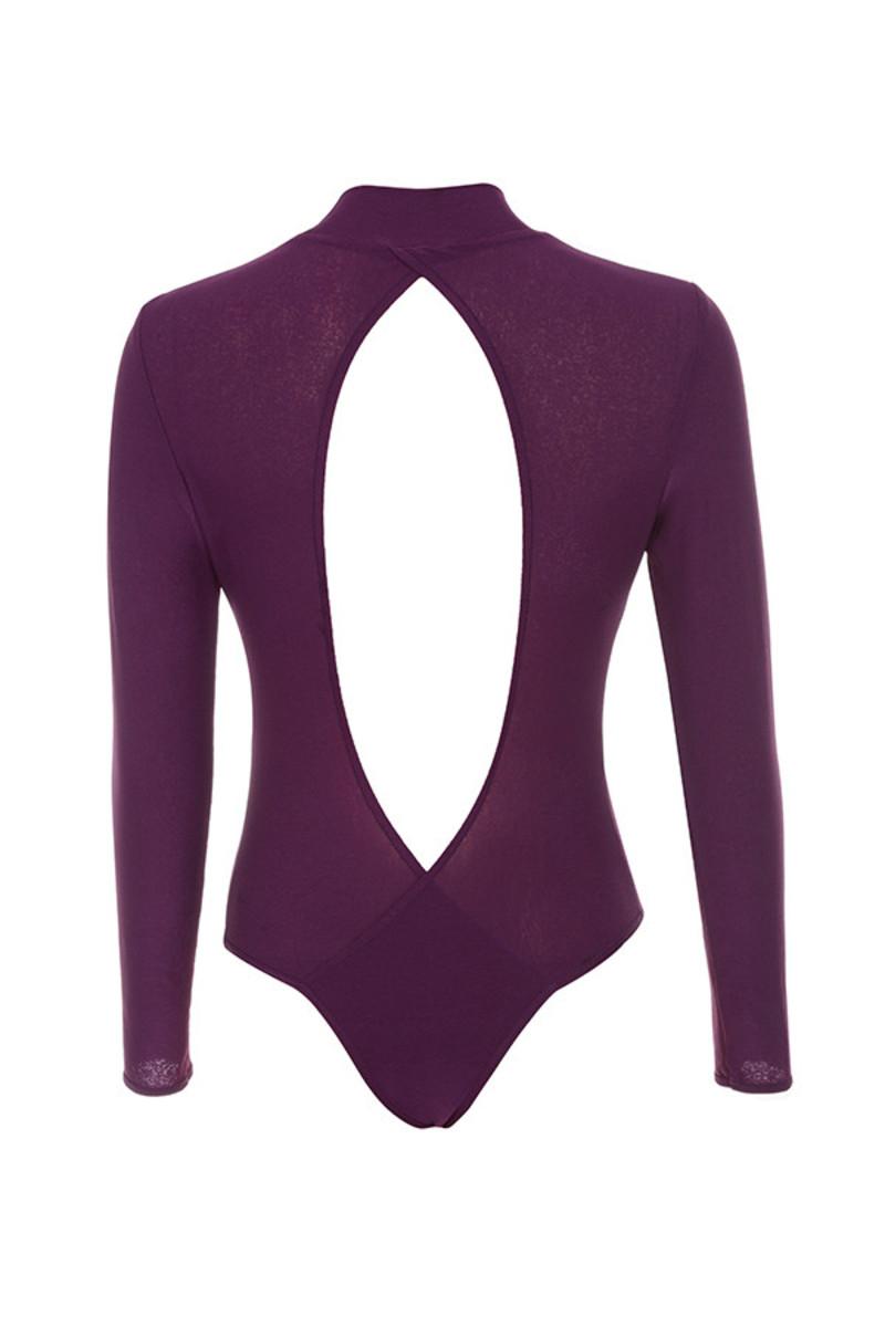 guilty bodysuit in purple