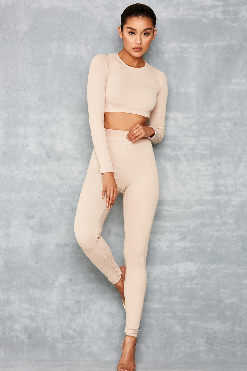 Leader Taupe Two Piece Leggings Set