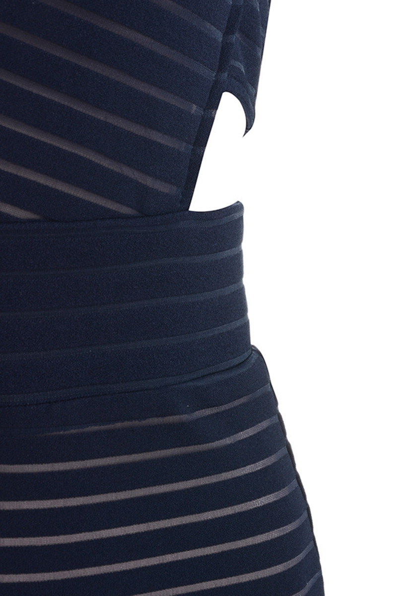 navy montage dress