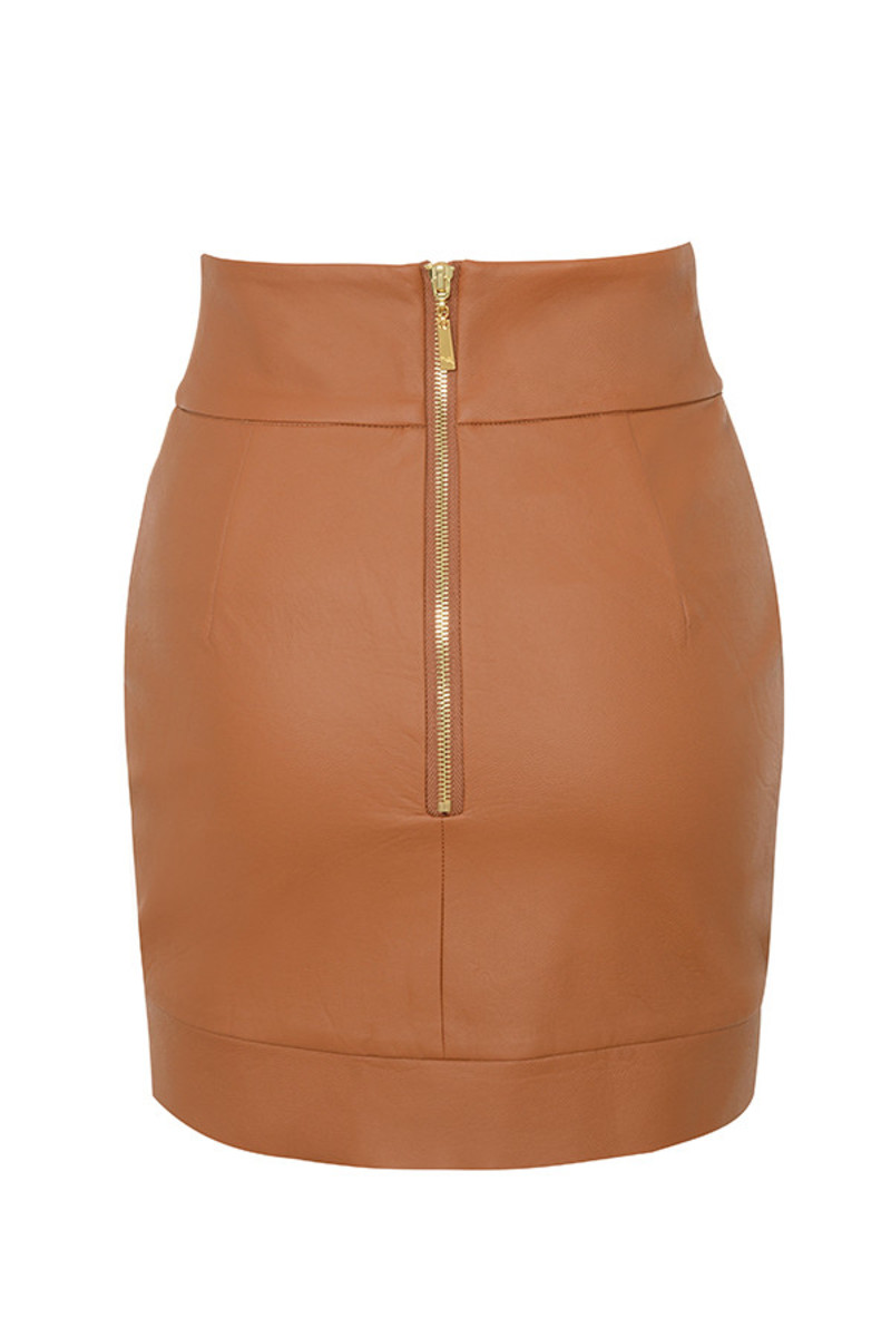 party on skirt in tan
