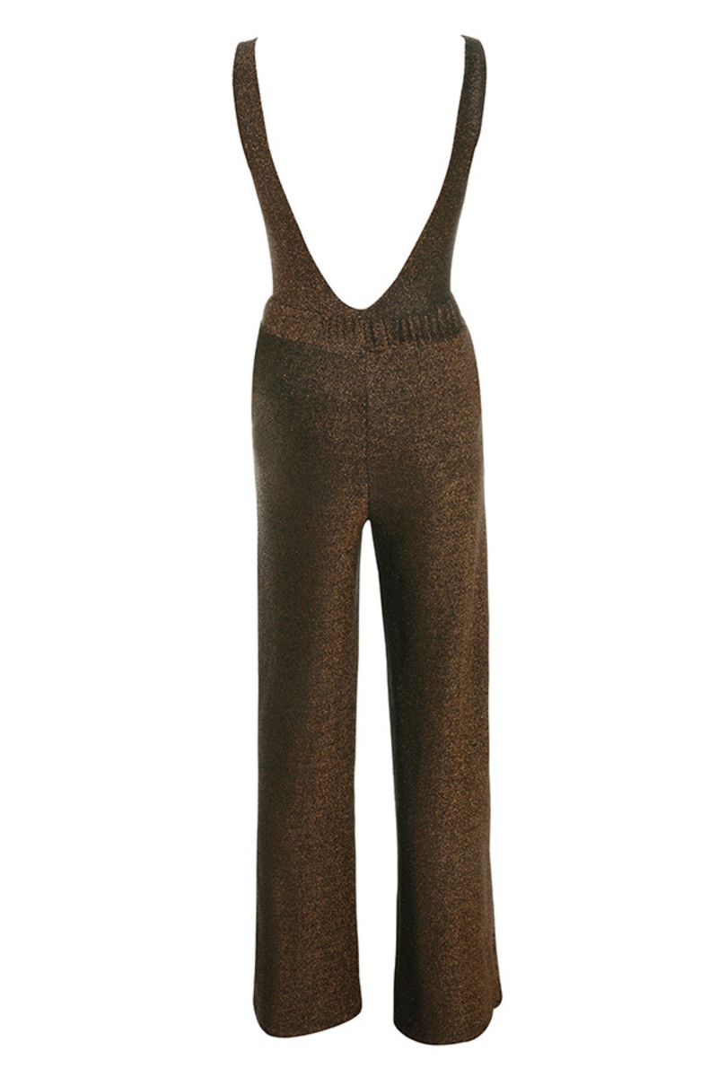 pushing limits jumpsuit in brown