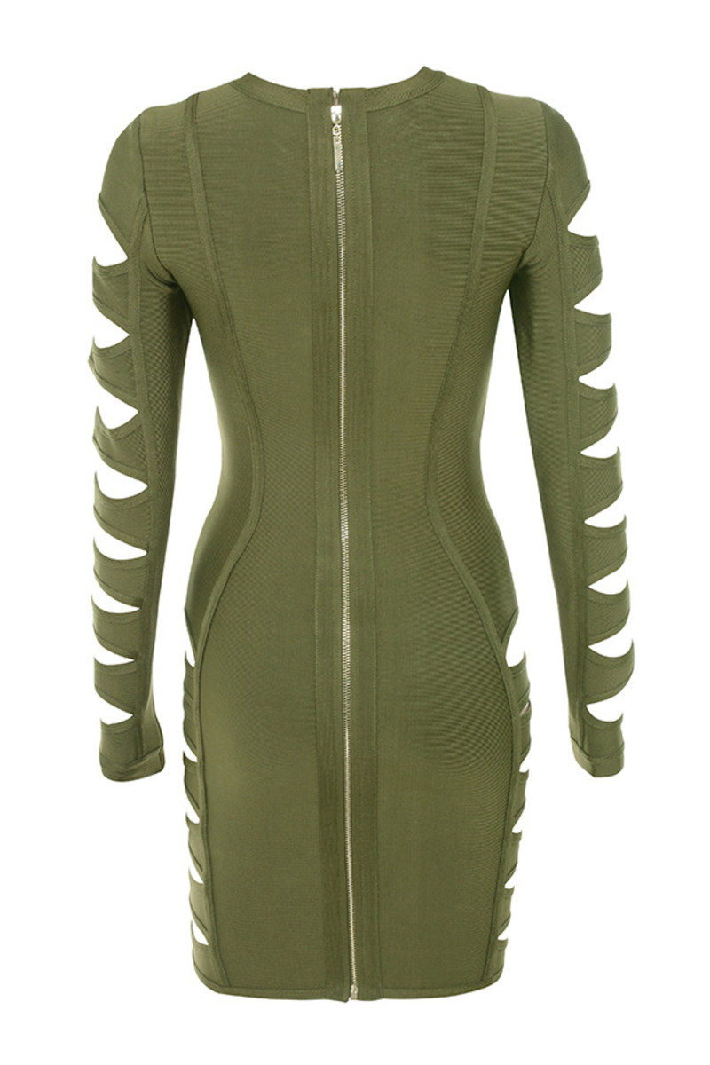 sorcery dress in khaki