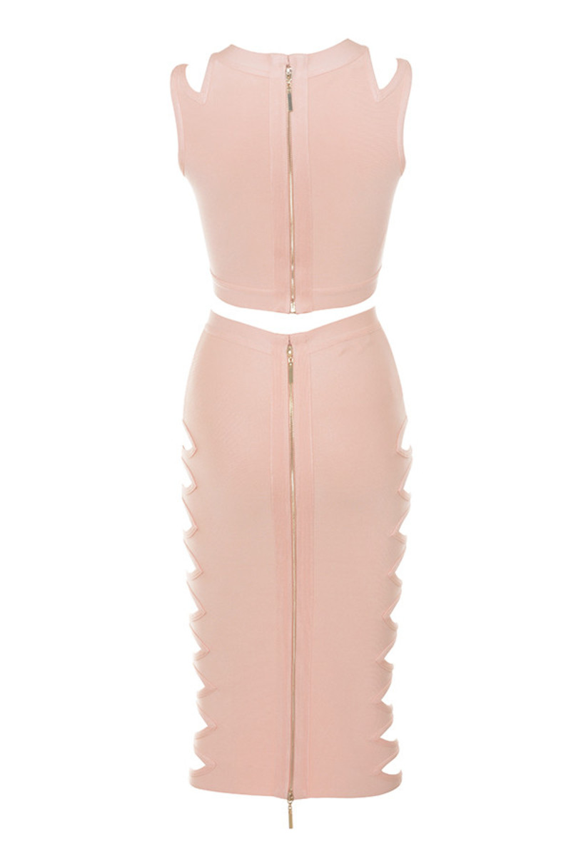 take em down dress in nude