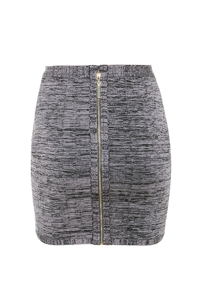 bliss skirt in grey