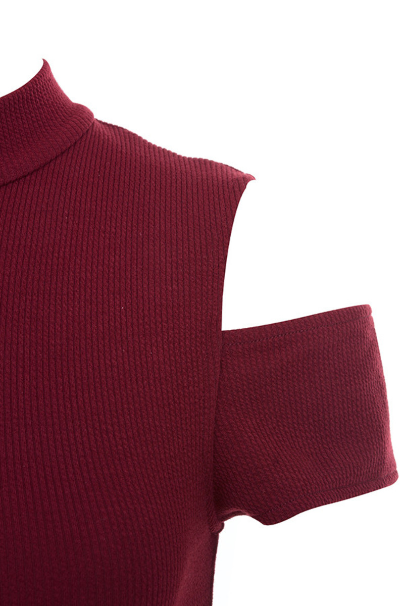 deep red curve bodysuit