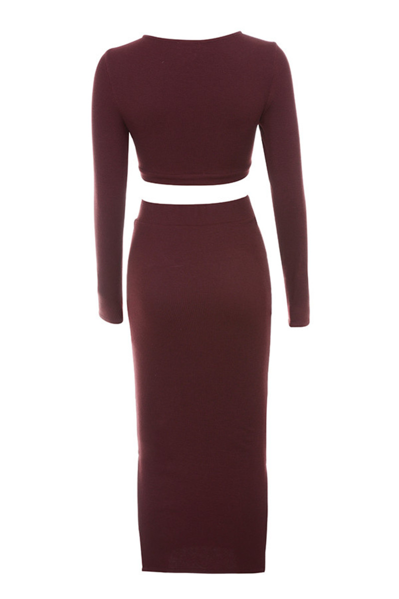 ecstasy dress in wine