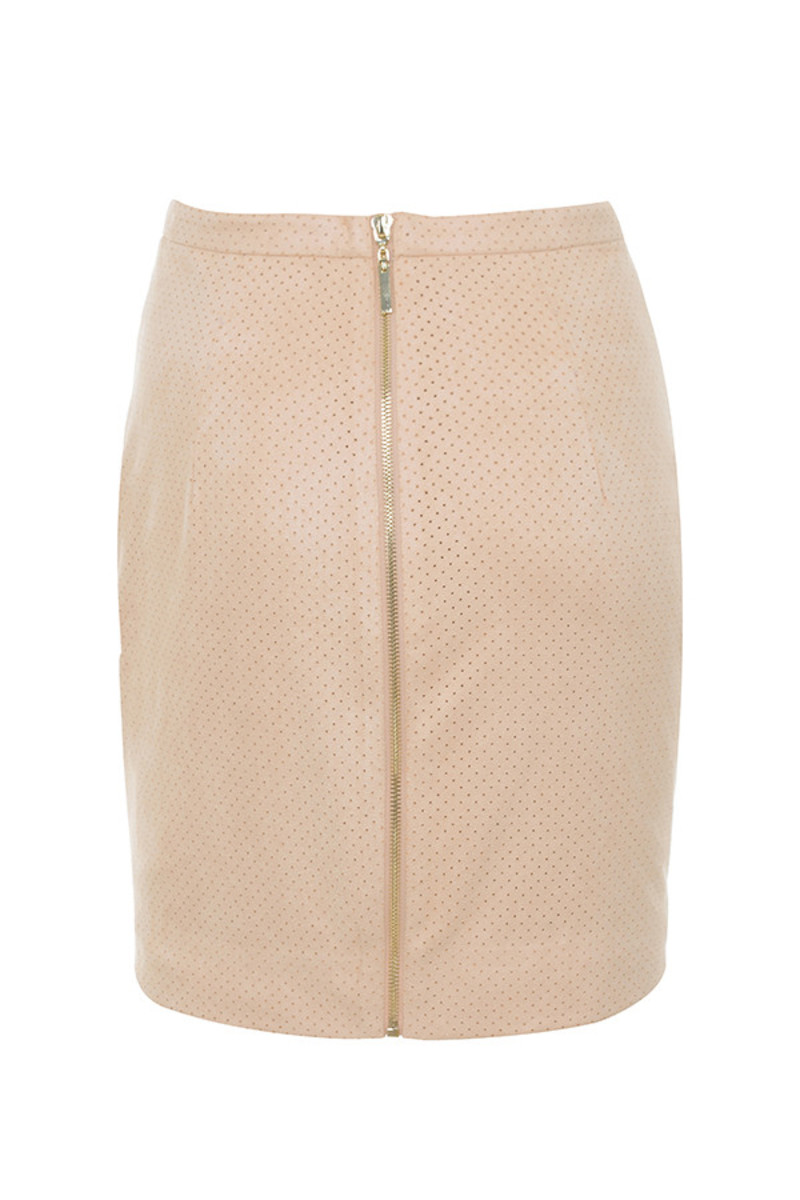 elevate skirt in nude