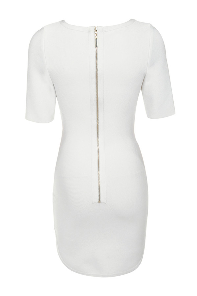 enchant dress in white