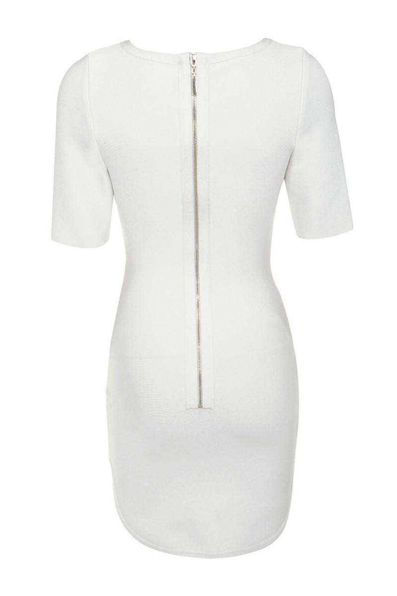 enchant dress in white