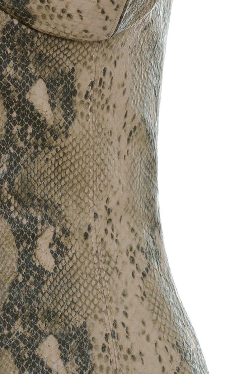 snakeskin groupie dress