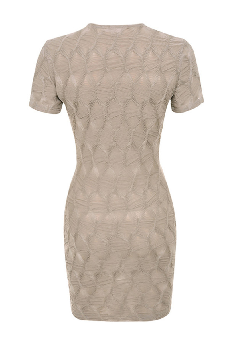 hardwired dress in taupe