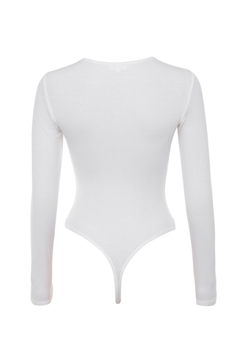maven bodysuit in white