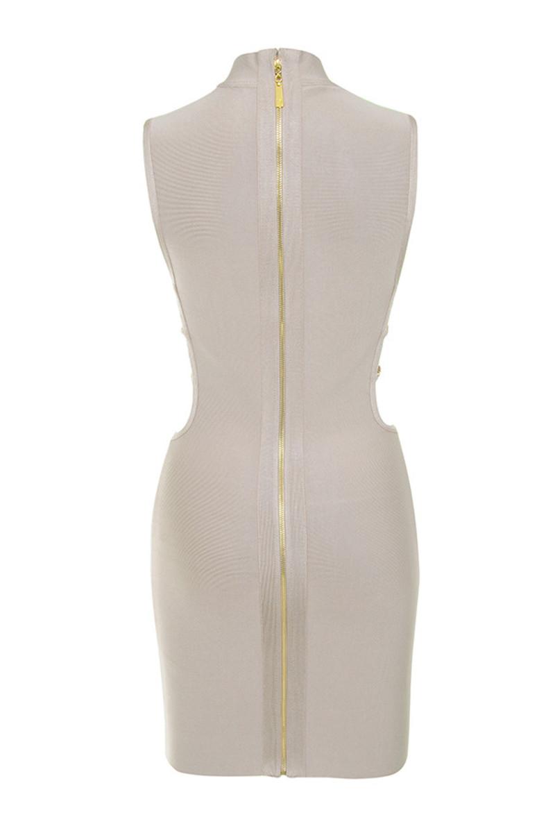 mock up dress in nude