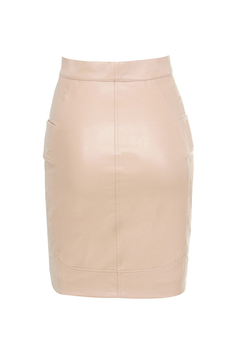 overflow skirt in nude
