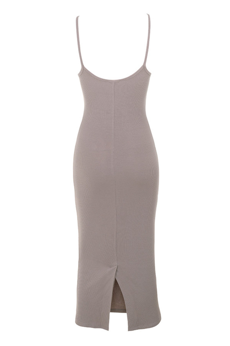 tearaway dress in taupe