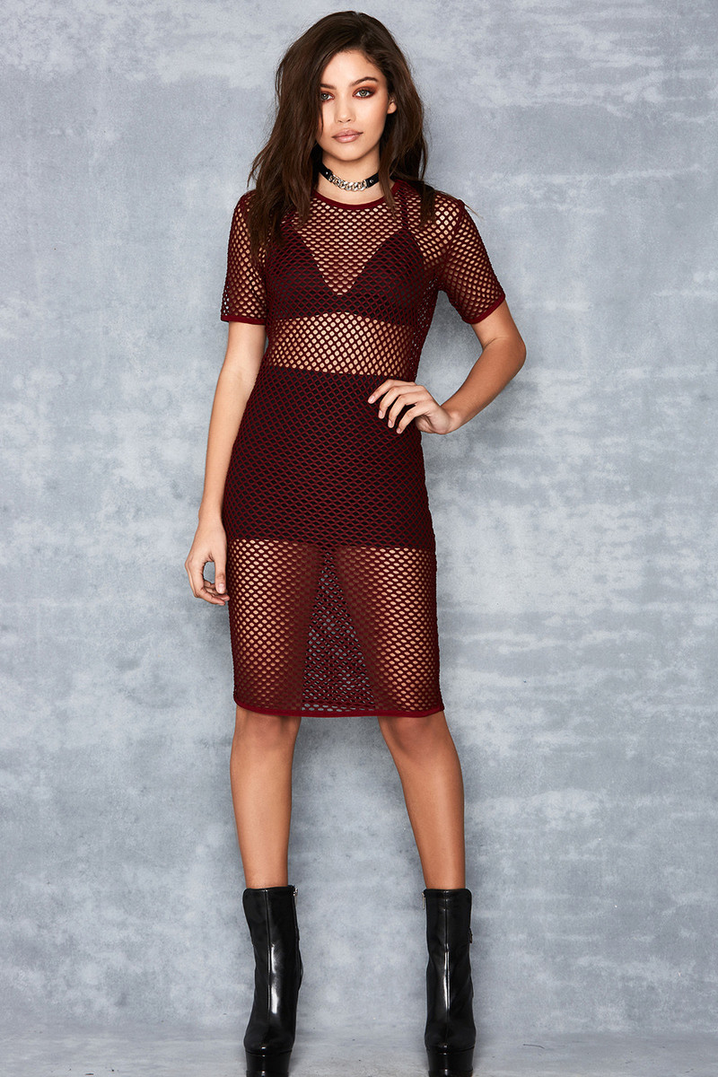 dark red thunder dress