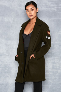 Commando Army Green Oversized Textured Overcoat