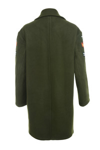 commando coat in green