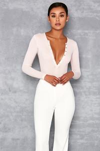 Elysium Baby Pink Rib Jersey Bodysuit
