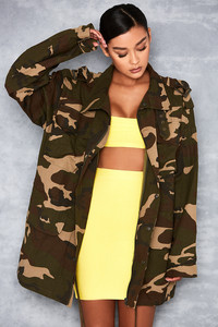 Jump Up Camouflague Oversized Jacket