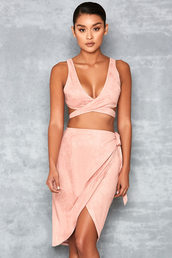 Lovesick Dusty Pink Wrap Over Two Piece B