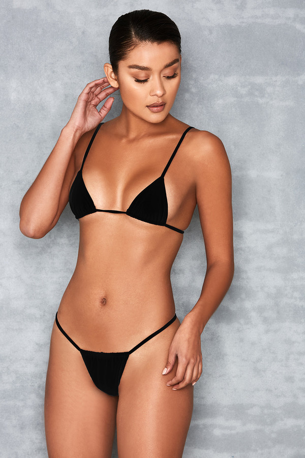 Next To Nothing Black Micro Bikini