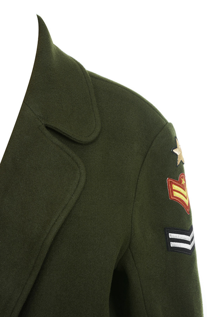 commando jacket in green