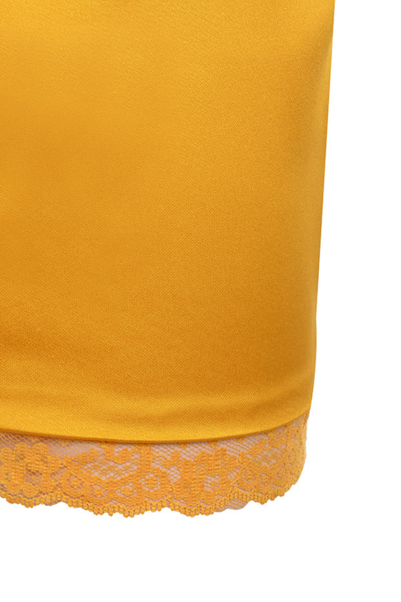 mustard courtesan dress