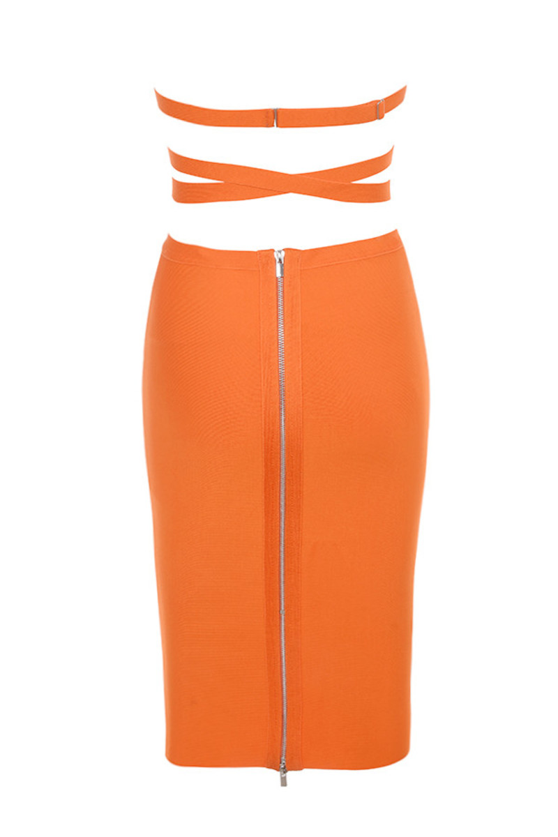 long shot skirt in orange