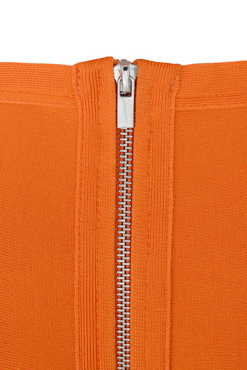orange long shot skirt