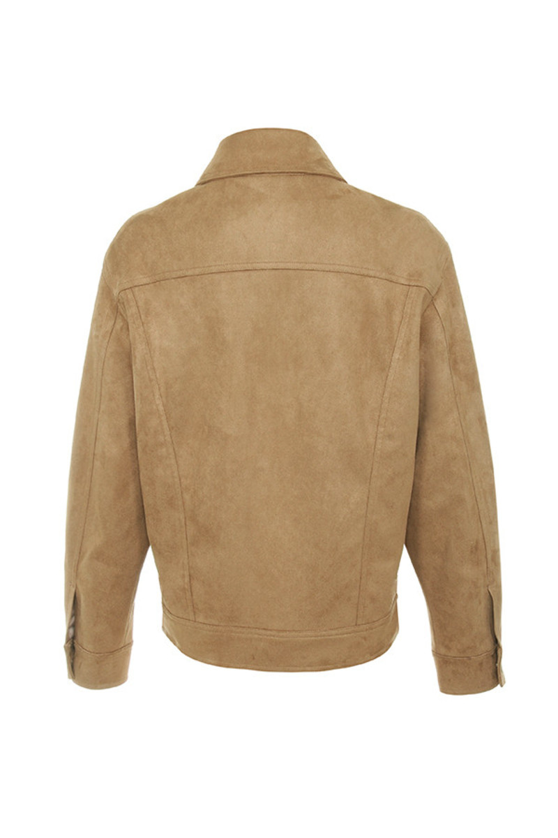 savage jacket in tan