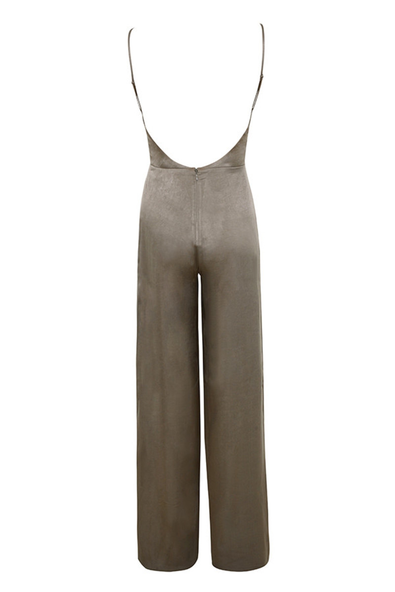serve it jumpsuit in khaki